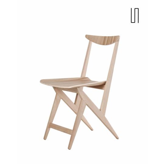 Edition neuve, chaise par Boguslawa et Czeslaw Kowalski, 1960, Design de l'Est