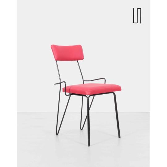 Eastern European metal chair, 1950s, Soviet design