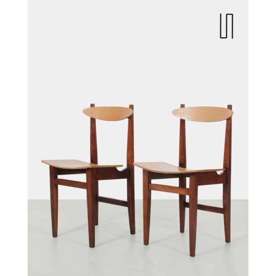 Paire de chaises modèle 200-102 par Maria Chomentowska, Design de l'Est