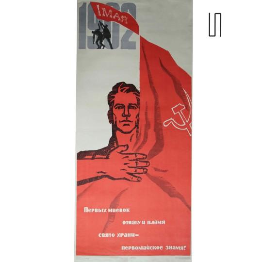 Affiche d'époque provenant de l'URSS, 1967