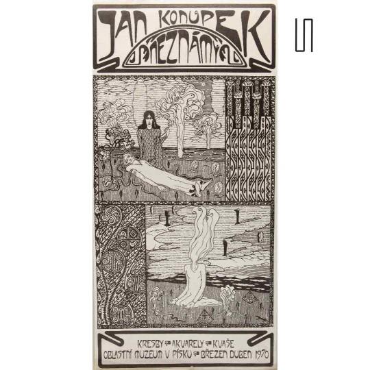 Affiche de l'exposition de Jan Konupek, 1970