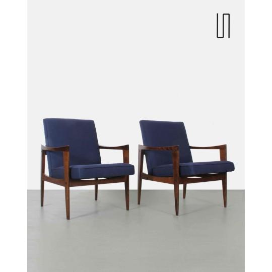 Paire de fauteuils polonais par Czeslaw Knothe, 1960, Design rétro de l'Est