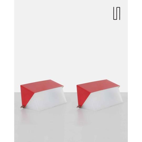 Paire d'appliques par Josef Hurka pour Napako, 1960, Design vintage soviétique