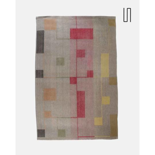Eastern European carpet by Antonin Kybal, 1950s, Retro soviet design