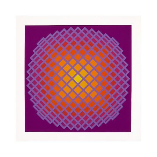 Sérigraphie - Yvaral - Quadrature IV
