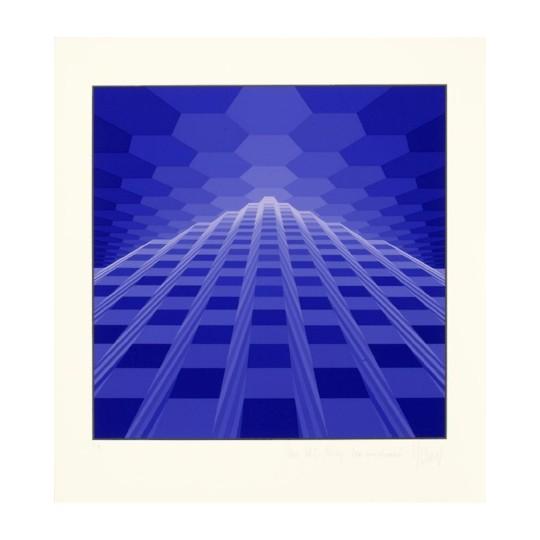 Screenprint - Yvaral - Horizon pyramidaux