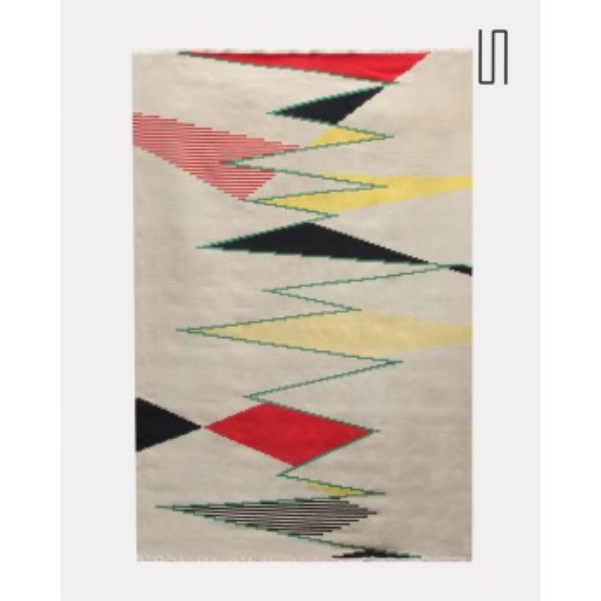 Grand tapis moderniste tchèque par Antonin Kybal, 1950