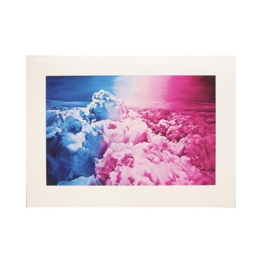 Sérigraphie - Jacques Monory - Au-dessus des nuages
