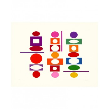 Sérigraphie - Yaacov Agam -  Double Metamorphosis 5