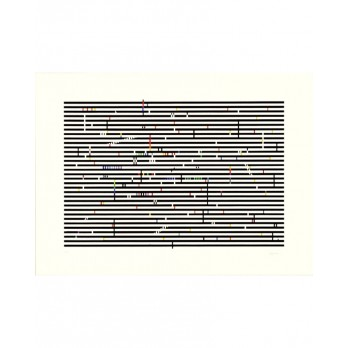 Sérigraphie - Yaacov Agam -  Double Metamorphosis 2