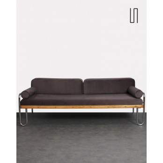 Eastern European tubular sofa, 1930s, vintage design furniture
