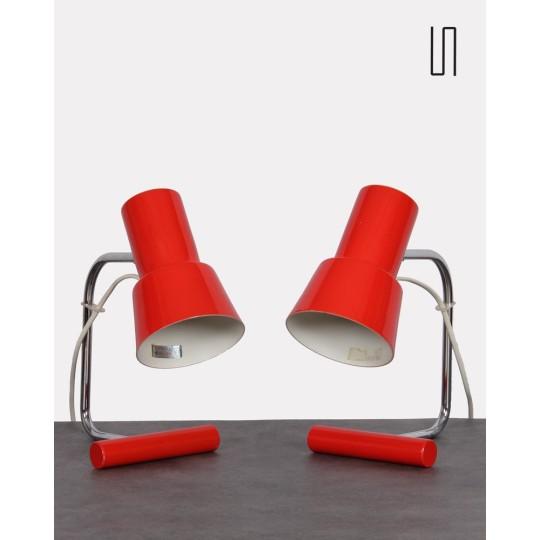 Paire de lampes tchèques par Josef Hurka pour Napako, mobilier soviétique