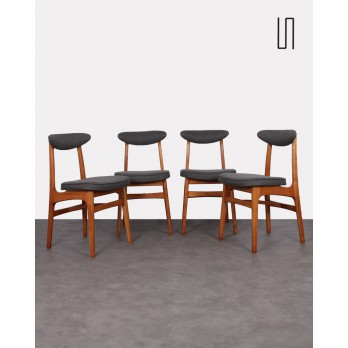 Set of 4 vintage chairs from the East by Rajmund Halas, 1960s, Soviet furniture