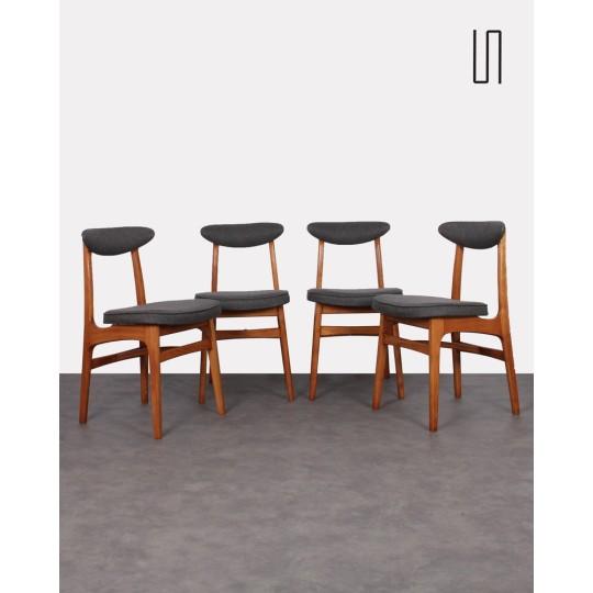 Suite de 4 chaises vintage de l'Est par Rajmund Halas, 1960