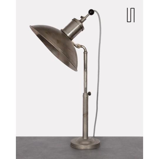 Grande lampe industrielle vintage, design tchèque, 1930
