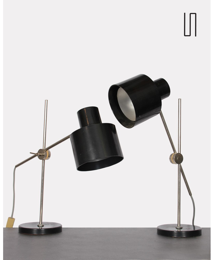 Pair of lamps by Jan Suchan for Elektrosvit, 1960