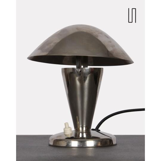 Lampe à poser en métal d'Europe de l'Est, 1940