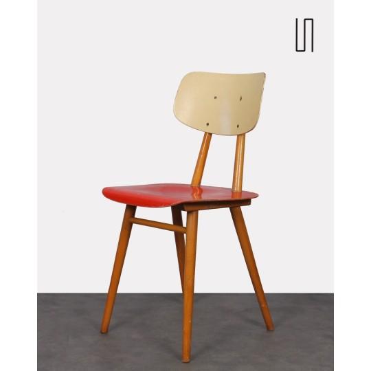 Chaise des pays de l'Est éditée par Ton, 1960, Design vintage