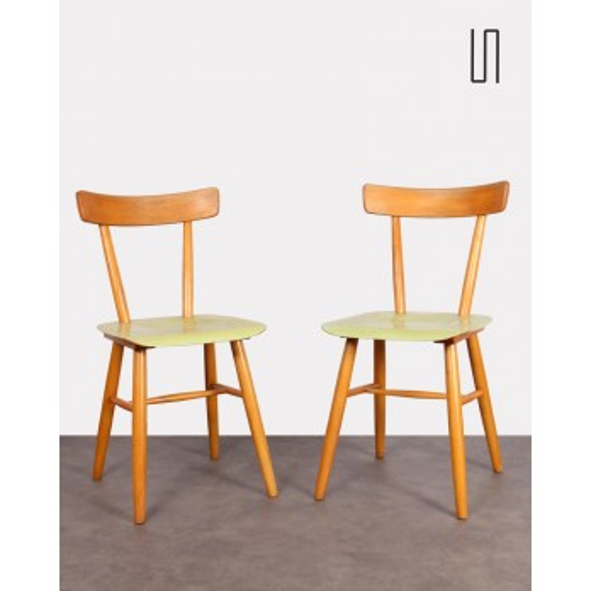 Paire de chaises des pays de l'Est éditée par Ton, 1960,  Mobilier vintage