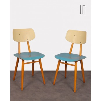 Pair of chairs for Ton, Czech design, 1960s