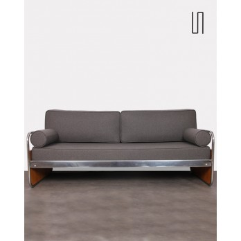 Tubular metal sofa, Czech design, 1930s