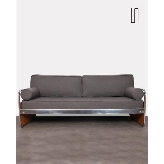 Tubular metal sofa, Czech design, 1930s