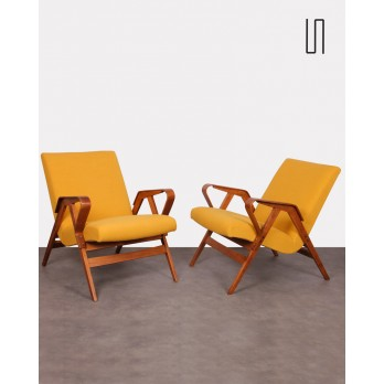 Pair of Czech armchairs for Tatra Nabytok, 1960s