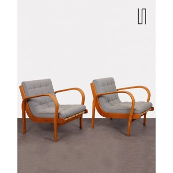 Pair of armchairs by Kropacek and Kozelka, 1944