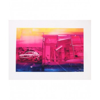 Screenprint - Jacques Monory - Fuite n°2