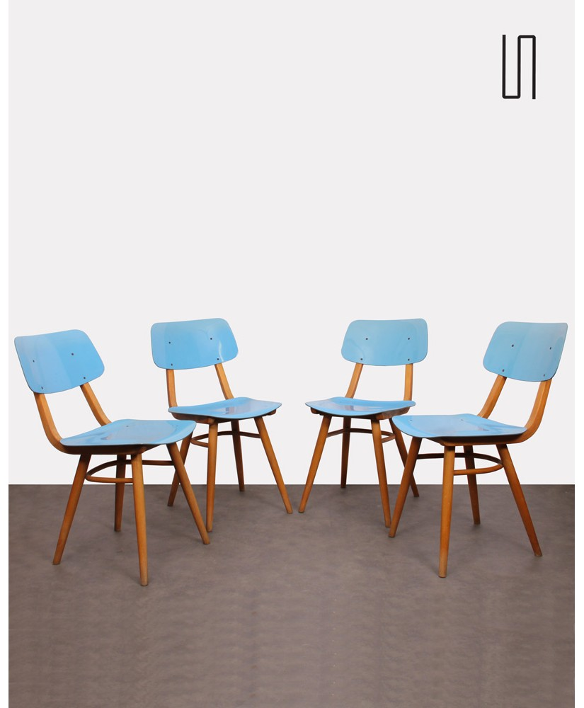 Set of 4 vintage chairs edited by Ton, 1970s