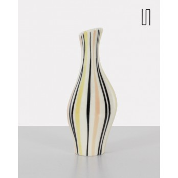 White vase from the Eastern countries by Jarmila Formánková, 1959, Soviet design