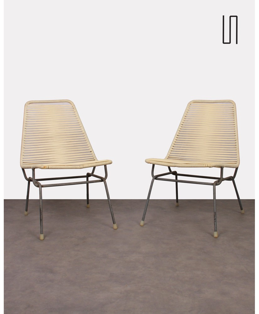 Pair of Czech armchairs, 1960s