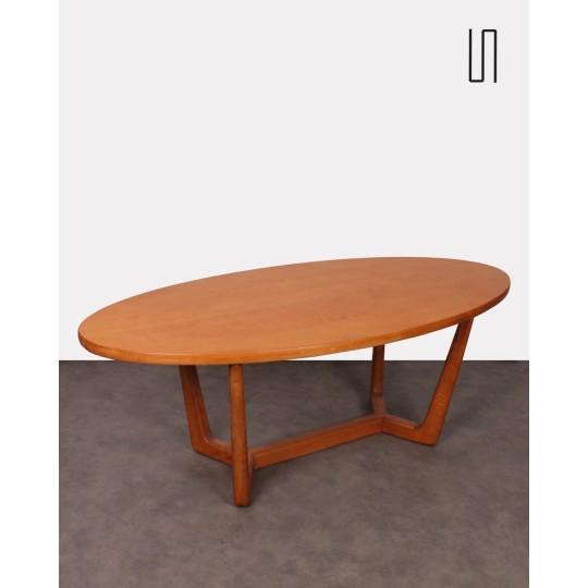 Table basse tchécoslovaque, design vintage soviétique des pays d'Europe de l'Est
