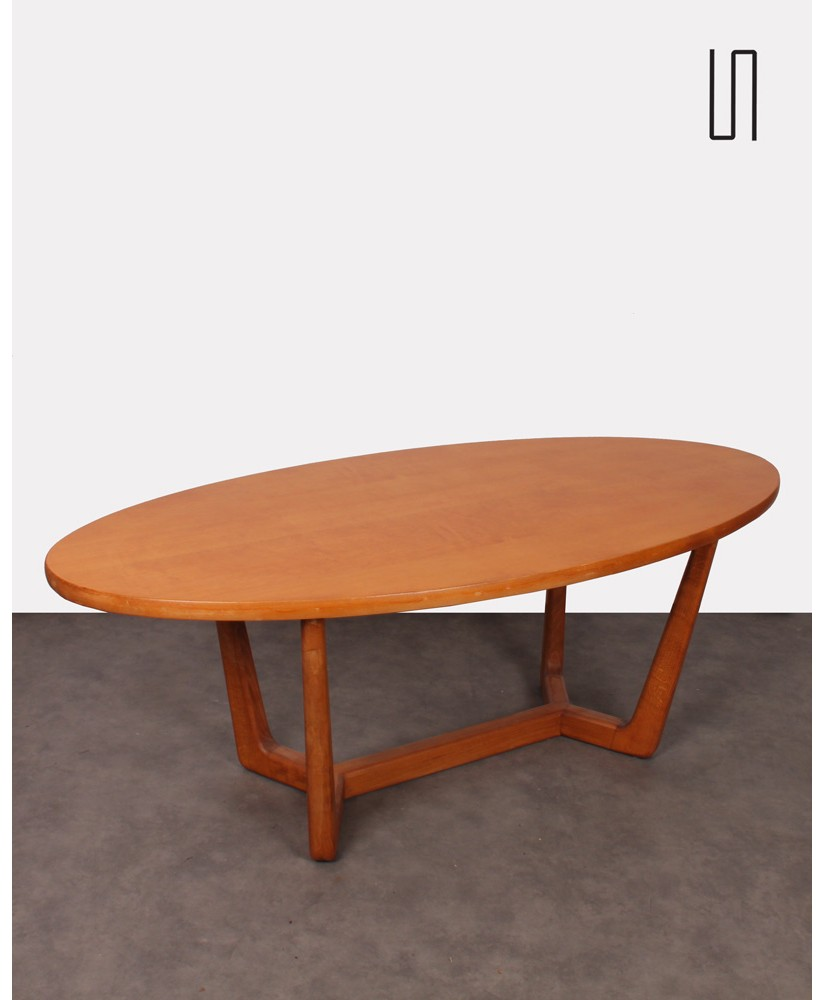 Czechoslovakian oval table, vintage soviet design from Eastern countries