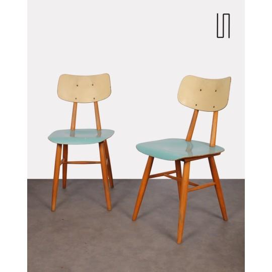Paire de chaises d'Europe de l'Est pour Ton, 1960