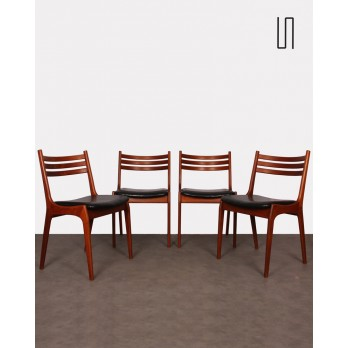 Suite de 4 chaises vintage scandinaves, 1960