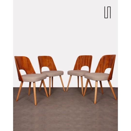 Suite de 4 chaises par Oswald Haerdlt, 1950