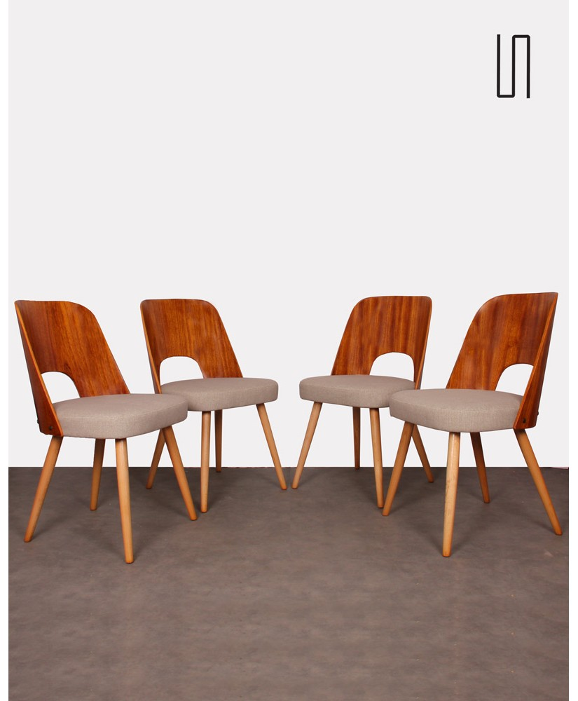 Set of 4 chairs designed by Oswald Haerdlt, 1950s