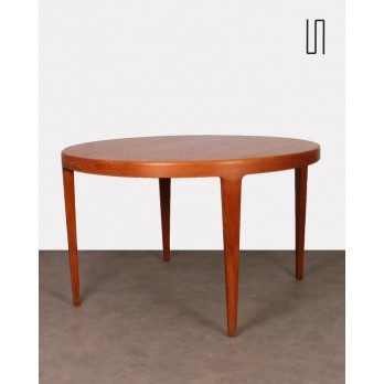 Table de repas ronde, design scandinave vintage, 1960