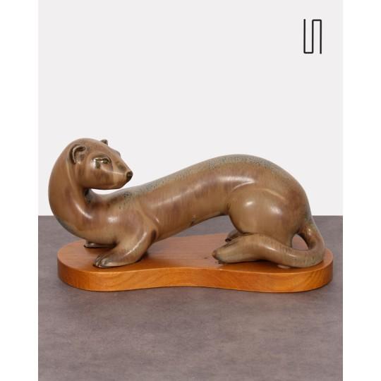 Furet scandinave en céramique par Gunnar Nylund, 1960
