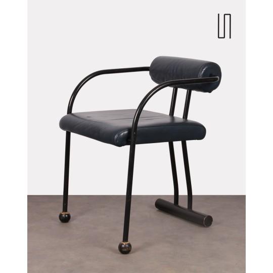 Vintage armchair, postmodern design, 1980s