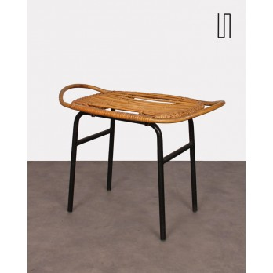 Rattan stool by Alan Fuchs for Uluv, 1960s