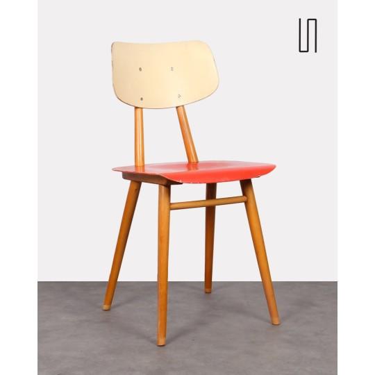 Chaise d'origine tchèque pour Ton, 1960