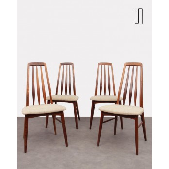 Set of 4 Scandinavian rosewood chairs by Niels Koefoed