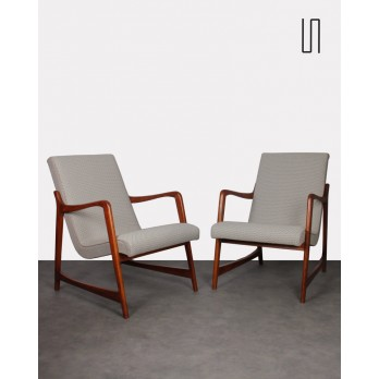 Pair of armchairs by Barbara Fenrych, 1960