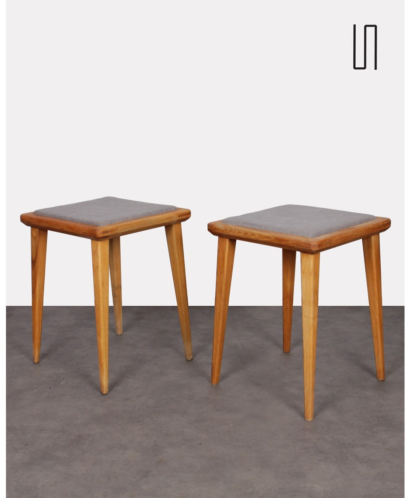 Pair of stools by Franciszek Aplewicz for LAD, 1960s