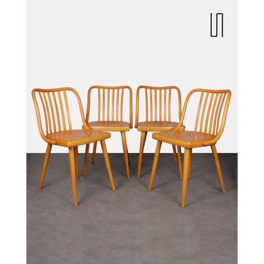 Suite de 4 chaises vintage par Antonin Suman, 1960