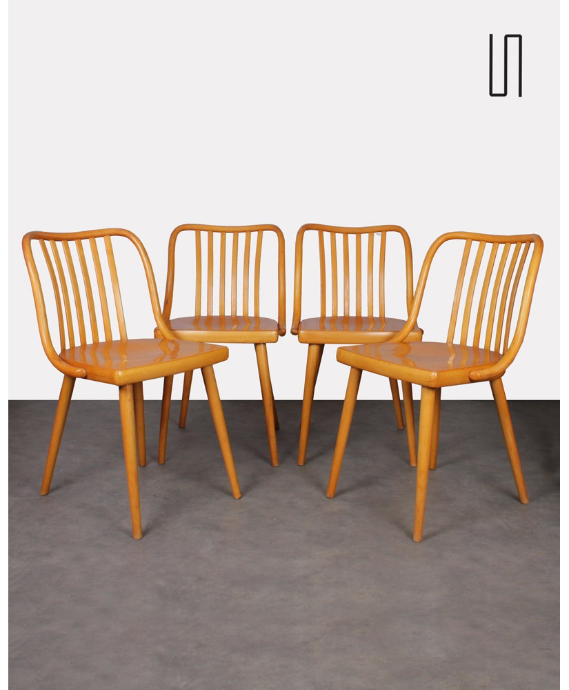 Set of 4 vintage chairs by Antonin Suman, 1960s