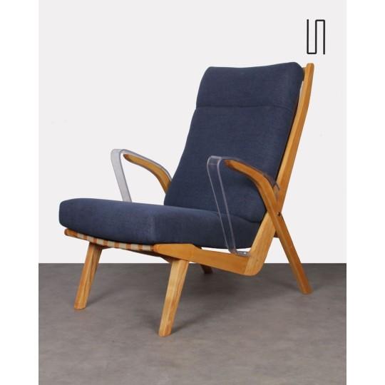 Vintage armchair, Czech design, for Uluv, 1960s