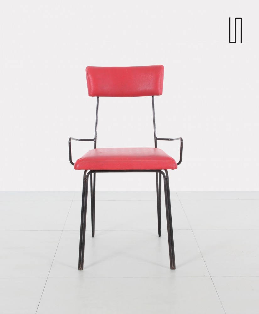 ... Pair Of Polish Vintage Red Metal Chairs, Soviet Design From Eastern  Countries ...